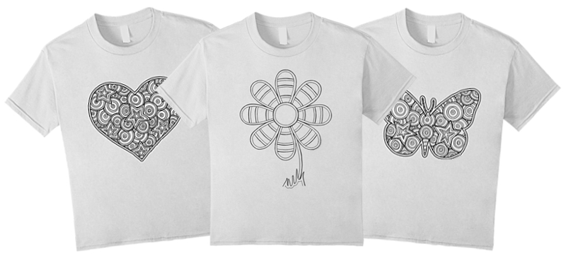 Coloring T-Shirts: Find T-Shirts to Color